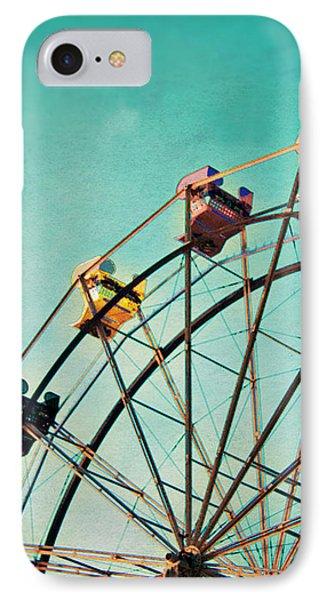 Aquamarine Dream - Ferris Wheel Art IPhone Case