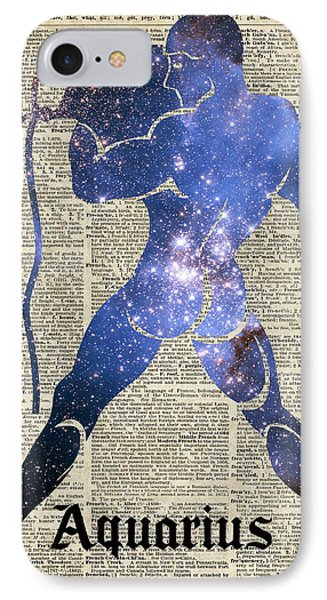 Aquarius The Water-bearer - Zodiac Sign IPhone Case by Jacob Kuch