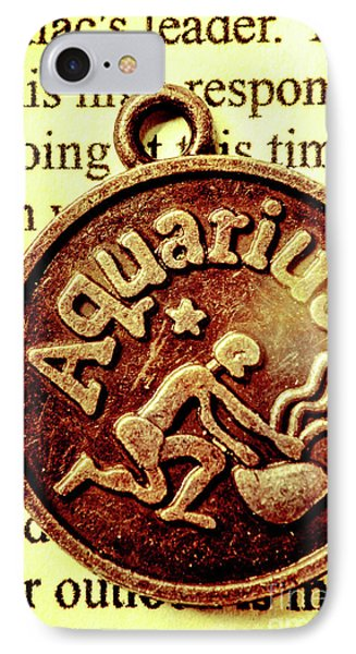 Aquarius Zodiac Sign IPhone Case by Jorgo Photography - Wall Art Gallery