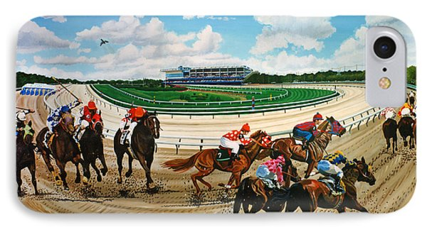 Aqueduct Racetrack IPhone Case by Bonnie Siracusa