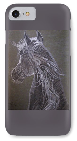 IPhone Case featuring the drawing Arab Horse by Melita Safran