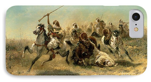 Arab Horsemen On The Attack IPhone Case