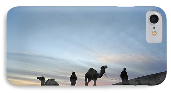 Arabian Camel At Sunset Phone Case by PhotoStock-Israel