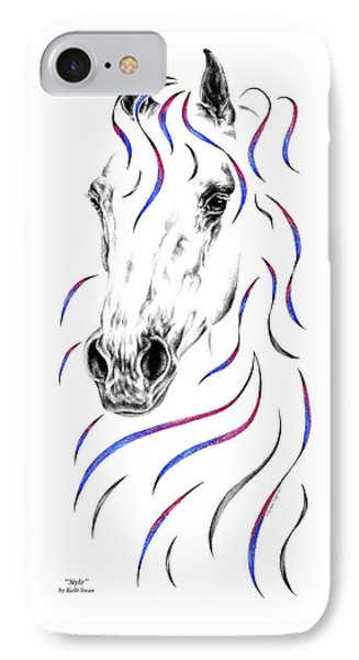 Arabian Horse Style IPhone Case by Kelli Swan