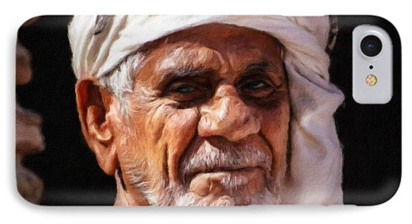 Arabian Old Man Phone Case by Vincent Monozlay