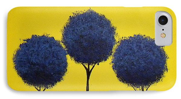 IPhone Case featuring the painting Arboles by Edwin Alverio