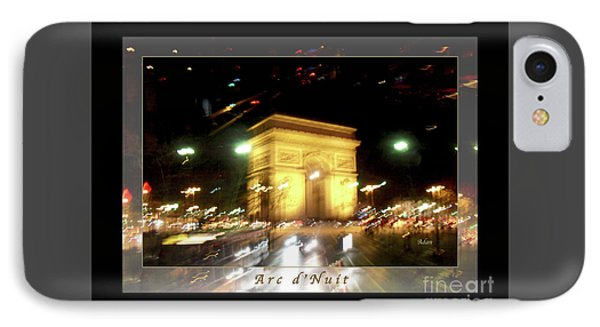 Arc De Triomphe By Bus Tour Greeting Card Poster V1 Phone Case by Felipe Adan Lerma