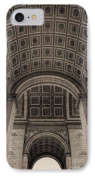 IPhone Case featuring the photograph Arc De Triomphe Interior by Nigel Fletcher-Jones