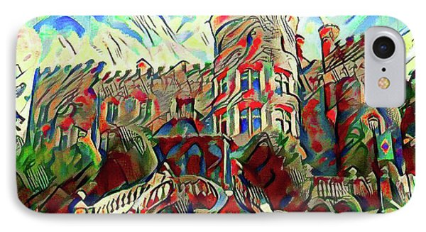 Arcadia College - Grey Towers Castle Watercolor IPhone Case by Bill Cannon