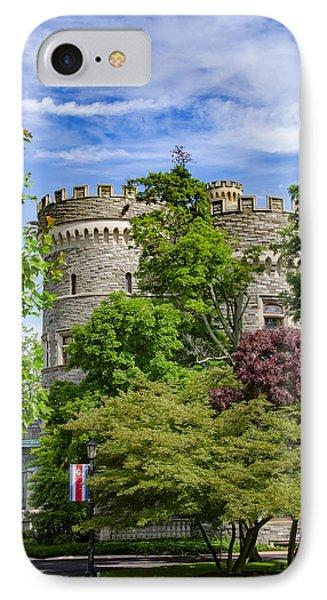 Arcadia University Castle - Glenside Pennsylvania IPhone Case by Bill Cannon