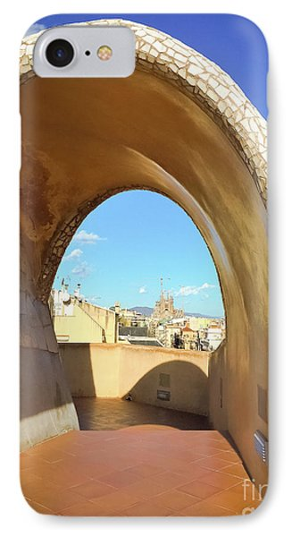 IPhone Case featuring the photograph Arch On The Rooftop Of The Casa Mila by Colleen Kammerer
