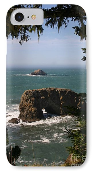 Arch Rock View IPhone Case by Marie Neder