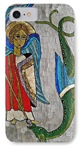 Archangel Michael And The Dragon    Phone Case by Sarah Loft