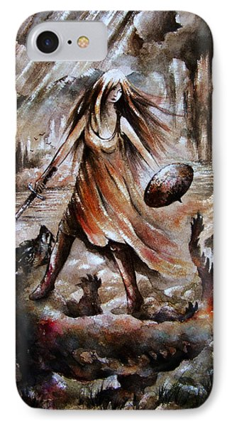 Archangel Phone Case by Rachel Christine Nowicki