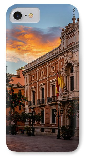 Archbishops Palace Valencia Spain IPhone Case by Joan Carroll