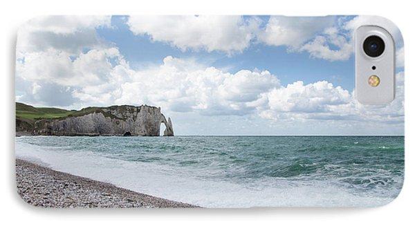 Arch At Etretat Beach, Normandie IPhone Case
