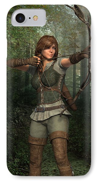 Archer In The Forest IPhone Case