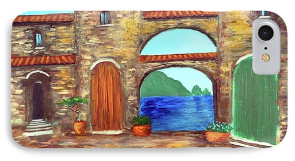 IPhone Case featuring the painting Arches Of Amalfi  by Larry Cirigliano