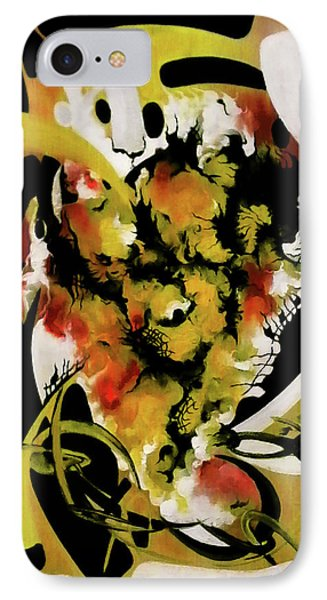 Architectonic Reappearance Of Luminous Information IPhone Case by Carmen Fine Art