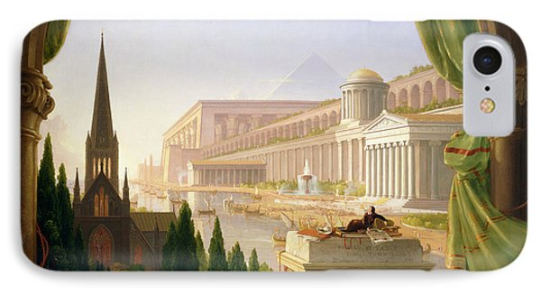Architect's Dream  IPhone Case by Thomas Cole