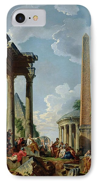 Architectural Capriccio With A Preacher In The Ruins IPhone Case