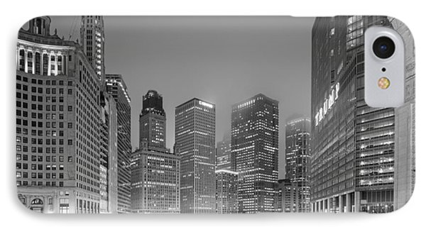 Architectural Image Of The Chicago River And Skyline From The Wrigley Building - Chicago Illinois IPhone Case