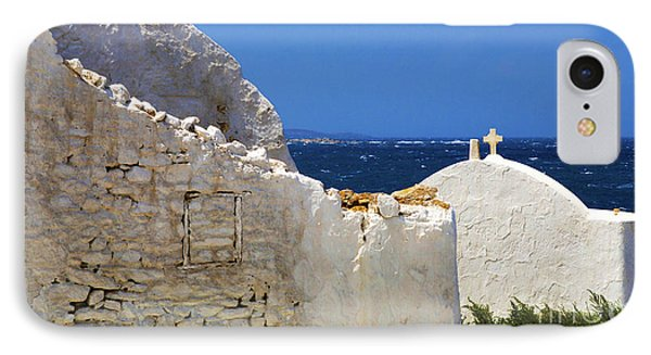 Architecture Mykonos Greece 2 IPhone Case by Bob Christopher