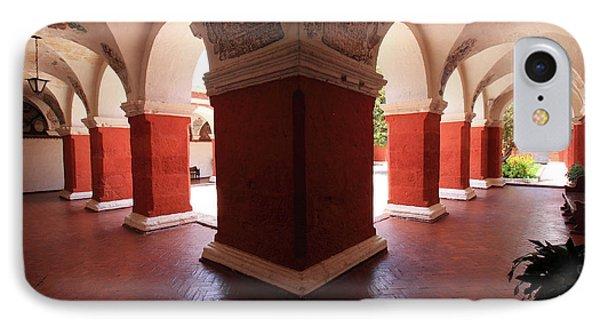 Archway Paintings At Santa Catalina Monastery IPhone Case by Aidan Moran