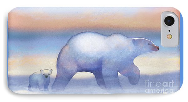 Arctic Bears, Journeys Bright IPhone Case by Tracy Herrmann
