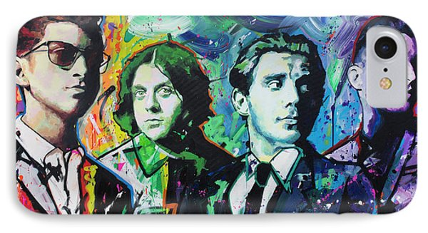 IPhone Case featuring the painting Arctic Monkeys by Richard Day