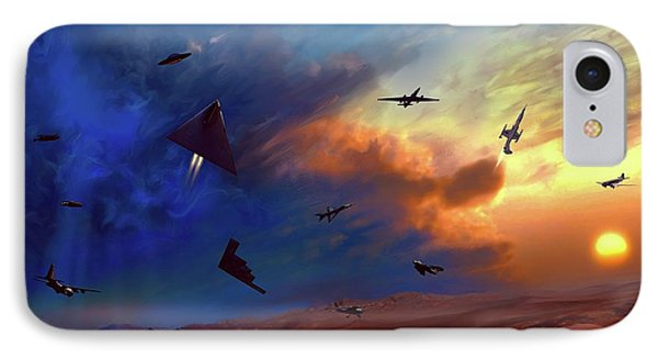 IPhone Case featuring the painting Area 51 Groom Lake by Dave Luebbert
