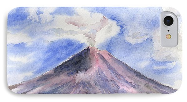 Arenal Volcano Costa Rica IPhone Case by Arline Wagner