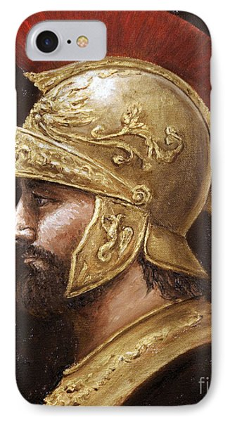 IPhone Case featuring the painting Ares by Arturas Slapsys