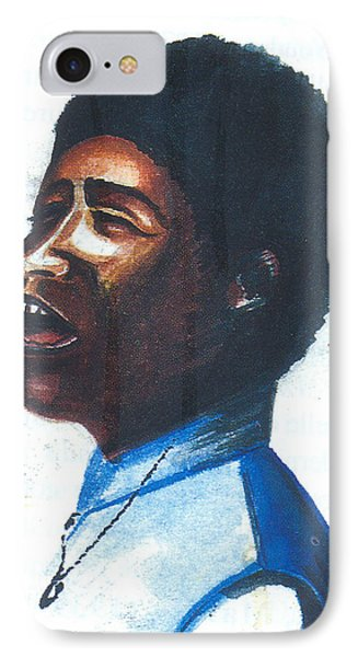 IPhone Case featuring the painting Aretha Franklin by Emmanuel Baliyanga