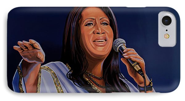 Aretha Franklin Painting IPhone Case