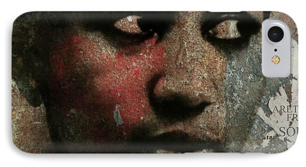 Rhythm And Blues iPhone 7 Case - Aretha Franklin - Tribute by Paul Lovering