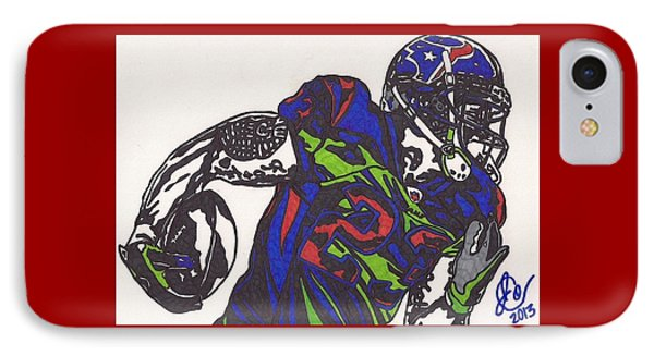 IPhone Case featuring the drawing Arian Foster 1 by Jeremiah Colley