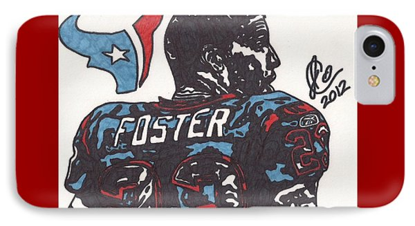 IPhone Case featuring the drawing Arian Foster 2 by Jeremiah Colley