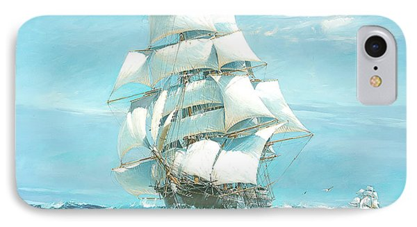 Ariel And Taeping - China Tea Clipper Race IPhone Case by Jack Spurling