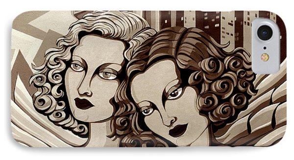 Arielle And Gabrielle In Sepia Tone Phone Case by Tara Hutton