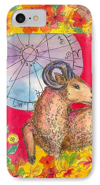 IPhone Case featuring the painting Aries by Cathie Richardson