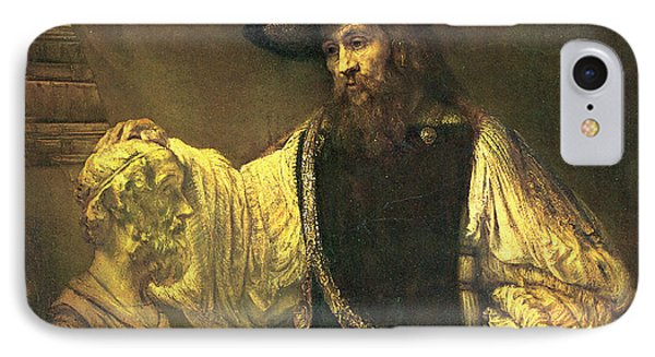 Aristotle Contemplating The Bust Of Homer IPhone Case by Rembrandt