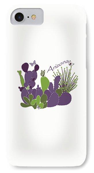 Arizona Cacti IPhone Case by Methune Hively