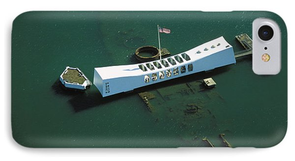 Arizona Memorial Aerial IPhone Case by Dana Edmunds - Printscapes