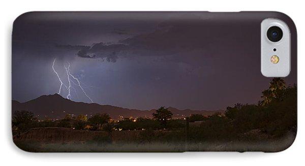 IPhone Case featuring the photograph Arizona Monsoon Lightning by Dan McManus
