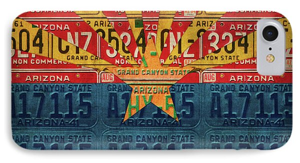 Arizona State Flag Vintage License Plate Art Phone Case by Design Turnpike