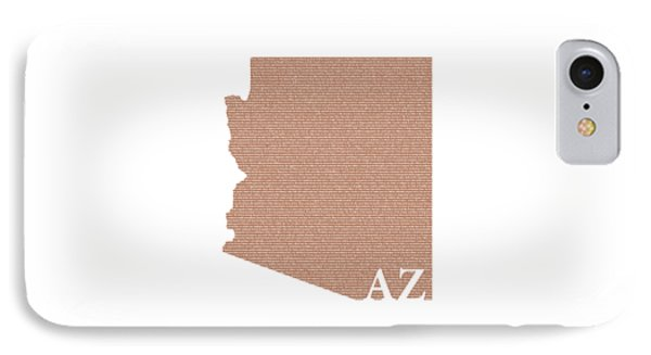 Arizona State Map With Text Of Constitution IPhone Case