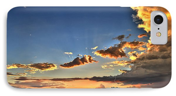 Arizona Sunset Storm IPhone Case by James Menzies