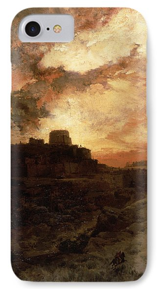 Arizona Sunset IPhone Case by Thomas Moran
