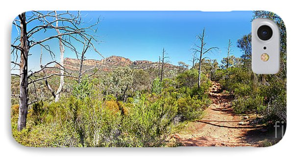 IPhone Case featuring the photograph Arkaroo Rock Hiking Trail.wilpena Pound by Bill Robinson